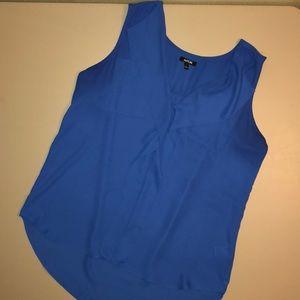Women's Blue Apt9 sleeveless sheer blouse
